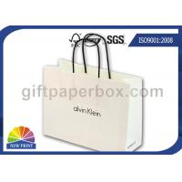 China White Kraft Paper Custom Printed Paper Shopping Bags Wholesale with Twisted Paper Handle on sale
