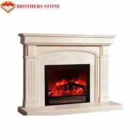 Buy cheap Easy Installation White Marble Fire Surround Classic Design For Indoor Decorative product