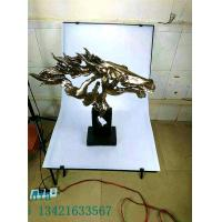 Buy cheap Abstract Horse Head Copper Imitation Resin Products for Commercial Areas Furniture Decoration product