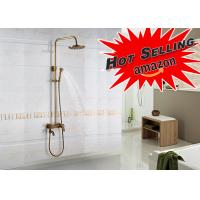 Buy cheap Sliding Brass Luxury Exposed Bath Shower Set Bronze Color Beautiful Appearance product