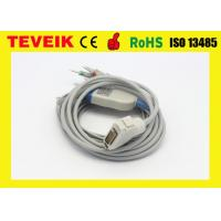 Buy cheap DIN3.0 4.7K ohm AHA Fukuda ECG Cable with Integrated 10 leadwires from wholesalers