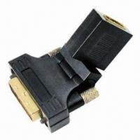 Buy cheap Free Angle HDMI Female to DVI Male Adapter with Full Copper Connectors and 24K Gold Plating product