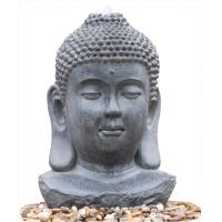 Buy cheap Decorative Buddha Statue Water Fountain / Fiberglass Resin Buddha Garden Water Feature product