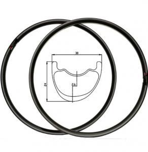 Buy cheap 29 26 Carbon MTB Rims And Tires Lightweight , Carbon Fiber Mountain Bike Rims product