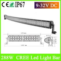 50 inch 288w 4x4 cree led car light curved led 103826449. Black Bedroom Furniture Sets. Home Design Ideas
