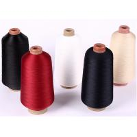 China Red Colour High Tenacity Polyester Yarn / 600D High Elastic Yarn For Shoe Upper on sale