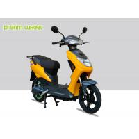 Buy cheap Yellow Black Narrow Body Pedal Assist Electric Bike 60-70km Distance , EEC Standard product