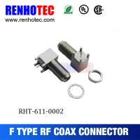 Buy cheap Right Angle Female PCB Mount F Connectors for CATV product
