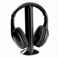 Buy cheap Black Bluetooth Wireless Headphones with Handsfree Chat, FM Radio product
