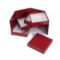Red Bespoke Square Rigid Gift Box With Lids Magnetic