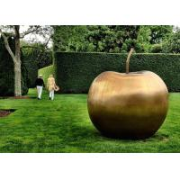 Buy cheap Contemporary Garden Decoration Sculpture Large Bronze Apple Sculpture product