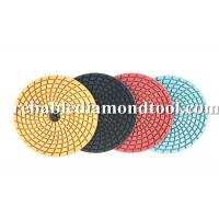 Buy cheap Angle Grinder Diamond Floor Pads Wet Polishing Abrasive Disc Speed 4500 RMP product
