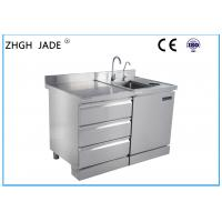 Buy cheap Custom Stainless Steel Kitchen Worktop , Stainless Steel Bar Counter Large Space product