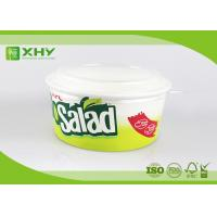 China 800ml 32oz  Eco Green Fruit Salad Disposable Food Grade Paper Food Box With PET Lid on sale