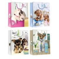 Buy cheap Christmas Paper Gift Bags with lovely dog pattern desgins product