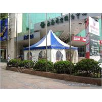 Buy cheap Color Stripe Top Cover Durable High Peak Pole Tent , High Peak Tent Rentals product
