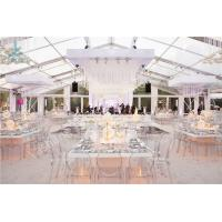Buy cheap Transparent Roof Fabric Tent Luxury Outdoor Wedding Party Marquee Aluminum Structure from wholesalers