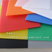 Buy cheap 4mm Corrugated plastic sheet 4x8/ Coroplast with low price/Trade Assurance Color Clear Roofing Corrugated Plastic Sheet product