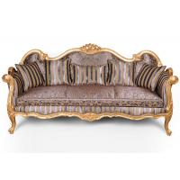 China Customized Hotel Used Wooden Sofa Designs With Carved Golden Painting Frame on sale