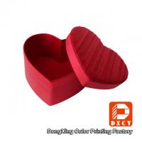 Delicate Colorful Printing Glossy Gift Boxes Heart Shape Pleating Silks And Satins Fabric