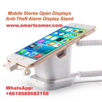 Buy cheap COMER smart phone stores security alarm system display rack stand holder with charging cord product