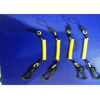 Buy cheap 3.0 mm Phone Holde Hand Tool Lanyards Yellow Coating With POM Swivel Hook And Clips product