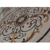 Buy cheap Mixed Color Round Mosaic Medallion Floor Patterns For Hotel / Residential product