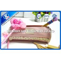 China Cute Round PU leather pencil case for Girls / Boys , Customized color on sale