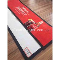 Buy cheap Thin No - woven Slip Wine PVC Rubber Bar Mat Custom Brand Logo Beer Drain Mats Decanters Accessories product