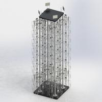 China 4 Columns Rotating Metal Book Display Stand With MDF Base W5.5 X D1.5 X H8 on sale
