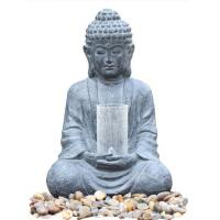 Buy cheap Cyan Stone Sitting Buddha Water Fountain For Home / Asian Water Fountains product