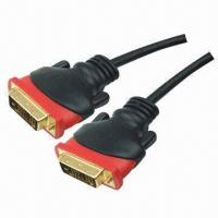 Buy cheap DVI cables for DVI plug to DVI plug, 24K gold from wholesalers