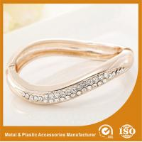Buy cheap Small Rhinestone Solid Silver Metal Bangles For Girls Jewellery product