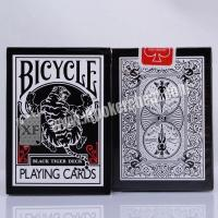 Buy cheap Bicycle Black Tiger Ellusionist Plastic Playing Cards With Invisible Ink Markings from Wholesalers