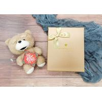 Buy cheap Gold Small Cardboard Gift Boxes With Gold Bowknot , Individual Cardboard Boxes from wholesalers