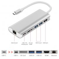 Buy cheap USB-C Hub 6 in 1 USB C Adapter with Type-C Charging Port 4K HDMI Output 2 USB 3.0 SD Card Reader for MACBOOK PRO product