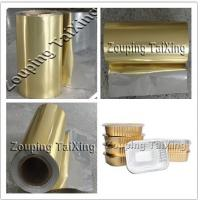 Buy cheap 8011 Golden Aluminium Foil With PP Film product