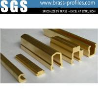 Copper Extruded Shapes : Copper extrusion window frame brass sections