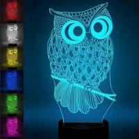Buy cheap New disinged multicolor changing acrylic Millennium Falcon 3d Led Night Light product