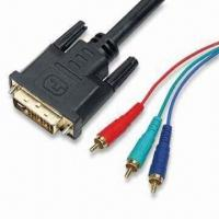 Buy cheap DVI to 3RCA RGB YCBCR Cables, Available in Various Lengths and Outer Diameters product