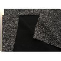Dark Gray 85% Polyester Wool Fabric , Woven Stretch Fabric Tweed In Stock