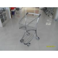 Buy cheap Zinc Plated PPG Powder Coating  Market Shopping Trolley With Elevator Casters product
