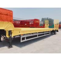 Buy cheap Professional 3 Axle Low Bed Trailer / Low Bed Semi Trailer For Heavy Loading from wholesalers