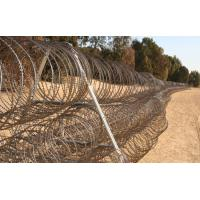 Buy cheap 75-1000 meter barriers of barbed tape concertina/razor coils can be deployed at incredible speed product