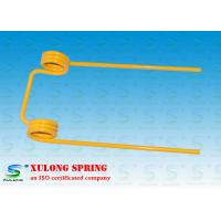 China 12mm Wire Double Torsion Springs Yellow Powder Coated For Agriculture Machinery on sale