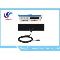 Buy cheap Links 50 Miles UHF VHF TV Antenna Indoor Thin Flat Coax Cable F Male Connector product