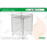 Buy cheap Heavy Duty Warehouse Trolleys , Zinc Plating Promotion Wire Cages product