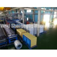 Buy cheap PU Sandwich Panel Production Line Electrical / Hydraulic Controlling product