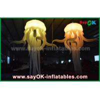 China Colorful Nylon Inflatable Lighting Decoration in  Octopus Shape With Led Light on sale