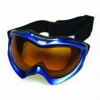 Buy cheap Super Anti-fog SKI Goggle with Spherical Double Lenses, Adjustable Super Elastic Jacquard Strap product